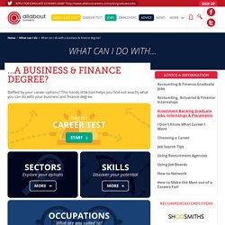 What can I do with a business & finance degree?