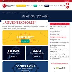 What can I do with a business degree?