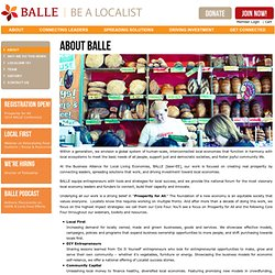 About BALLE | BALLE - Business Alliance for Local Living Economies