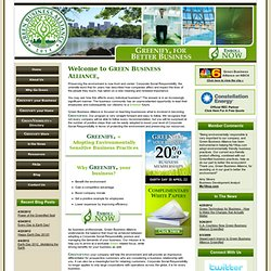 Green Business Alliance Enables You to Greenify