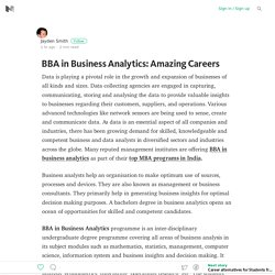 BBA in Business Analytics: Amazing Careers