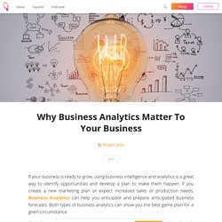Why Business Analytics Matter To Your Business - Robert Jelks