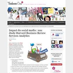 Impact du social media : une étude Harvard Business Review Services Analytics