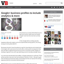 Google+ business profiles to include analytics & more