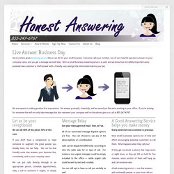 Honest Answering Offering Small Business Answering Service