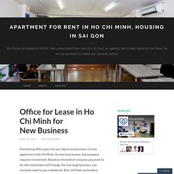 Office for Lease in Ho Chi Minh for New Business