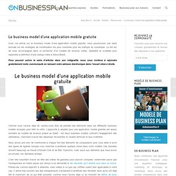 Le business model d'une application mobile gratuite