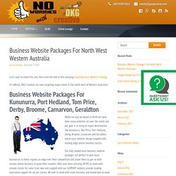 Business Website Packages For North West Western Australia
