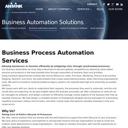 Business Automation Solutions and Services - Animink