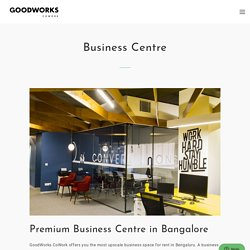 Premium Business Space For Rent In Bangalore