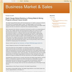Business Market & Sales: Depth Gauge Market Banking on Rising Metal & Mining Projects to Boost Future Growth