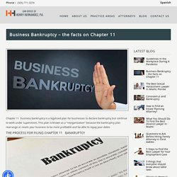 Business Bankruptcy - the facts on Chapter 11 - Top Attorney in Florida