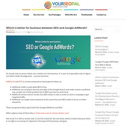 Which is better for business between SEO and Google AdWords? – YourSeoPal.com