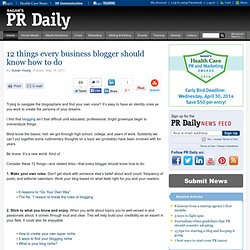 12 things every business blogger should know how to do