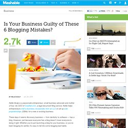 Is Your Business Guilty of These 6 Blogging Mistakes?