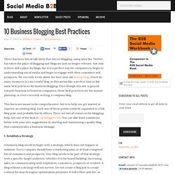 10 Business Blogging Best Practices