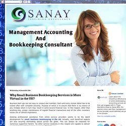 Why Small Business Bookkeeping Services is More Virtual in the UK?