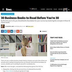 30 Business Books to Read Before You're 30