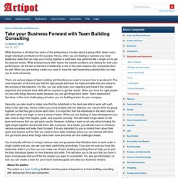 Take your Business Forward with Team Building Consulting