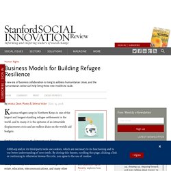 Business Models for Building Refugee Resilience