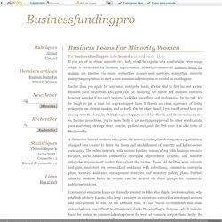 Business Loans For Minority Women - Businessfundingpro