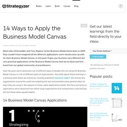 14 Ways to Apply the Business Model Canvas