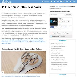 30 Die Cut Business Cards | Die Cut Business Card Collection