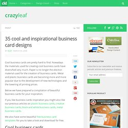 35 cool and inspirational business card designs