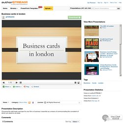 Business Cards in London