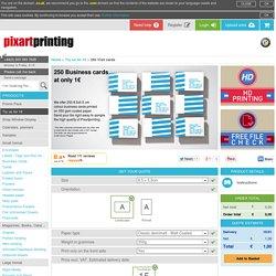 250 Free Business Cards - Pixartprinting