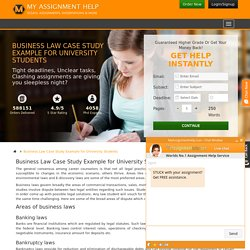 Business Law Case Study Help for Students