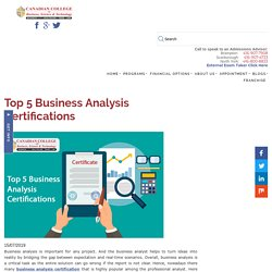 Top 5 Business Analysis Certifications