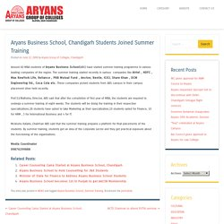 Aryans Business School, Chandigarh Students Joined Summer Training