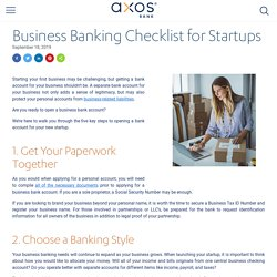 Business Banking Checklist for Startups