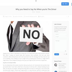 Why Need to Say No is Important in Business