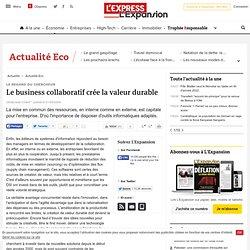Le business collaboratif crée la valeur durable