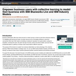 Empower business users with collective learning to model their business with IBM Blueworks Live and IBM Industry Models