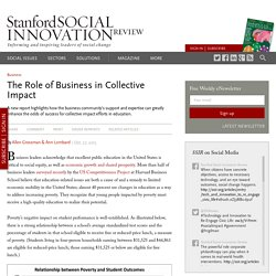 The Role of Business in Collective Impact