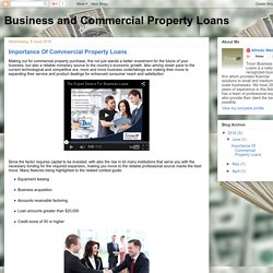 Business and Commercial Property Loans: Importance Of Commercial Property Loans