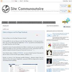 Créer un blog sur une Fan Page Facebook