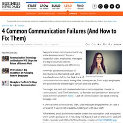 How to Fix Common Business Communication Failures