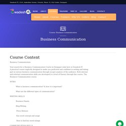 Top Business Communication Courses in Durgapur