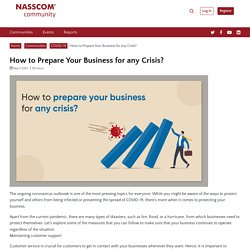 How to Prepare Your Business for any Crisis? - NASSCOM Community