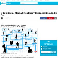 8 Top Social Media Sites Every Business Should Be On – and How Companies Should Use These Platforms