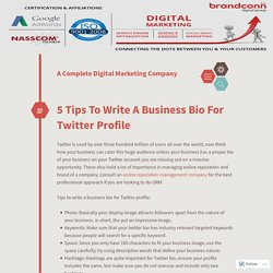 5 Tips To Write A Business Bio For Twitter Profile
