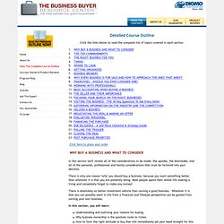 How to Buy a Business - Complete Course Outline