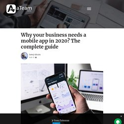Do you needs a mobile app in 2020?