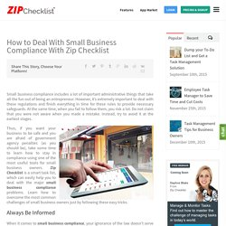 How to Deal With Small Business Compliance With Zip Checklist
