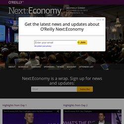 Future of business conference: Next:Economy, November 12 - 13, 2015, San Francisco, CA