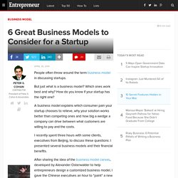 6 Great Business Models to Consider for a Startup